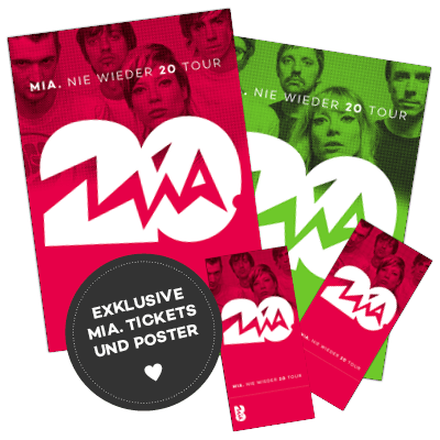 MIA. Tickets und Tourposter im Tourdesign
